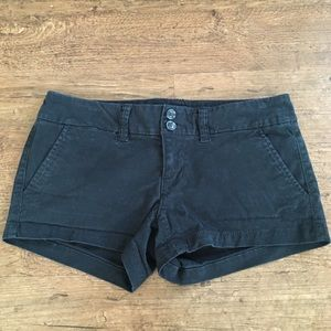 American Eagle Black Denim Shorts